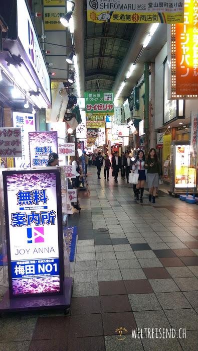 längste einkaufsstrasse osakas