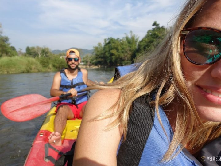 Kayaking in Vangvieng